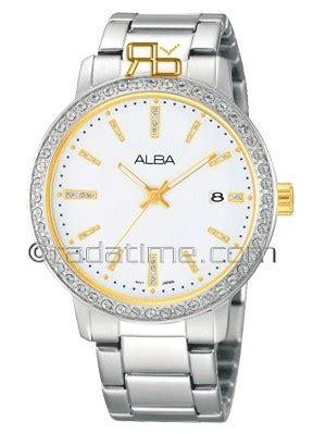 Jam Tangan Wanita Alba Asfb16x1 Gold White Original Garansi Resmi alba ag8271x1 white jam tangan wanita ag8271