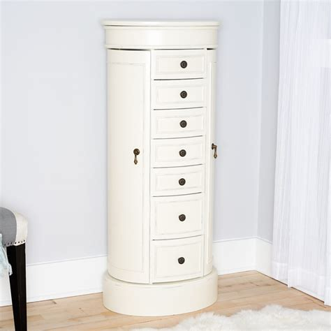 jewelry armoire white bailey jewelry armoire tuscan white hives and honey