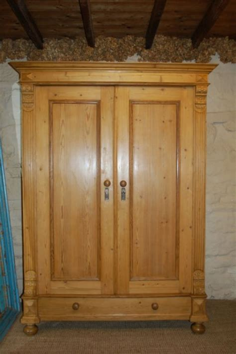 Antique Armoires Wardrobes by Antique Pine Wardrobe Armoire 210435