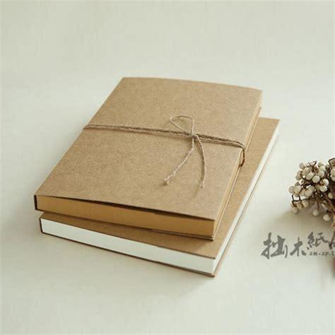 vintage sketch book ୧ʕ ʔ୨16k blank vintage notebook cowhide っ paper