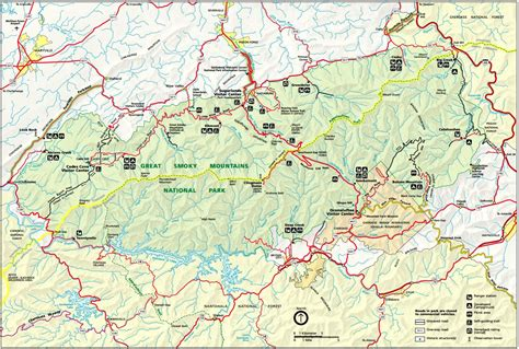 map of dome smoky mountains map
