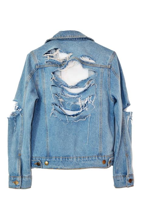 Ripped Jacket how to make your own mega shredded denim jacket
