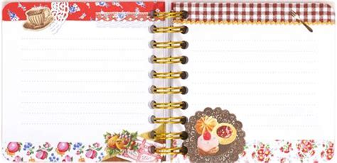 Binder Cookie 20 Ring collage mini ring binder notebook cookies flowers memo