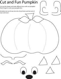 pumpkin coloring pages dltk cut and create pumpkin halloween crafts free printable