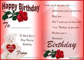 happy birthday template card happy birthday cards best word templates
