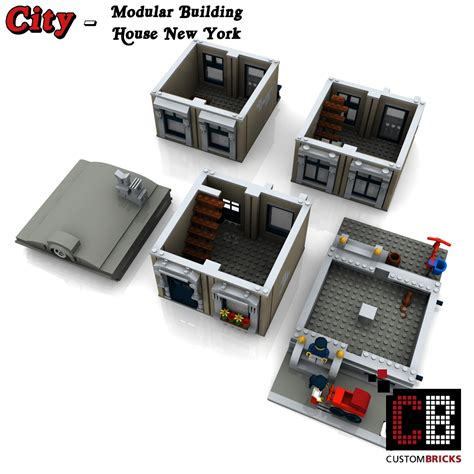 Handmade New York - custombricks de lego city creator expert haus house