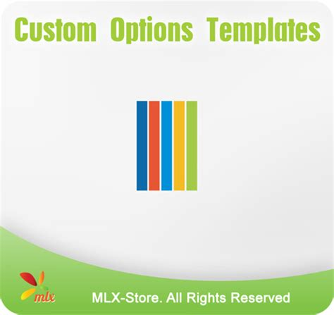 custom options templates extension for magento mlx store
