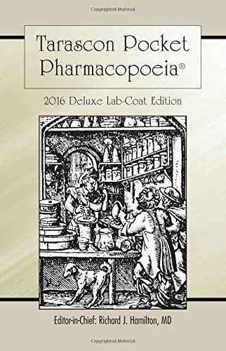 tarascon pocket pharmacopoeia 2018 deluxe lab coat edition books cheap pharmacy books subjects books