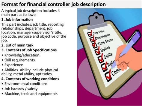 financial controller description