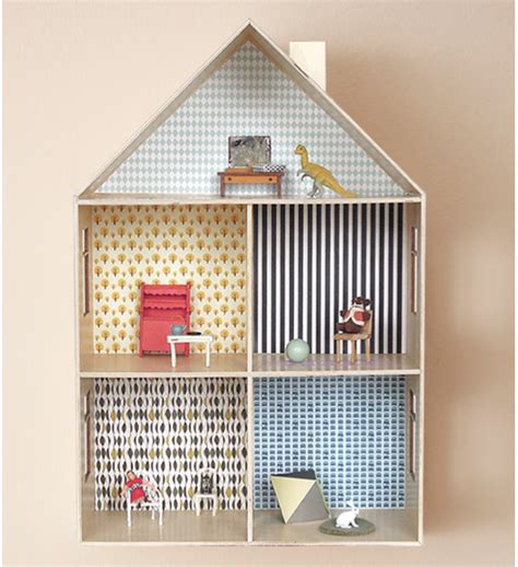design doll house online this diy dollhouse delights with free wallpaper designs