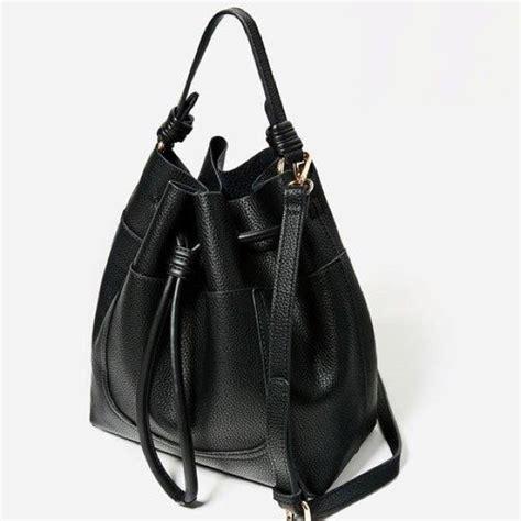Zara Leather Bag zara drawstring bag bags more