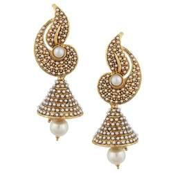 buy jhumka earrings buy white flower indian pearl jhumka earring jhumki