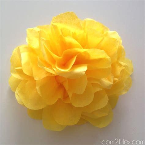 Bricolage Fleur En Papier De Soie by Diy De Jolies Fleurs En Papier De Soie