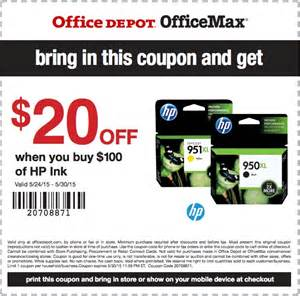 Office Depot Coupons On Ink Office Depot Hp Ink Toner Coupons Through May 30 Free