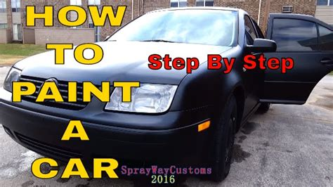 how to paint a car at home 100 paint by urekem flat