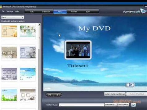 best dvd menu creator dvd creator to convert and burn to dvd aimersoft