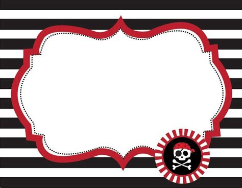 Printable Pirate Labels | 6 images of free printable pirate labels pinteres