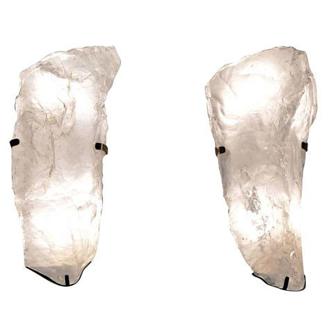 Rock Sconces pair of form rock wall sconces at 1stdibs