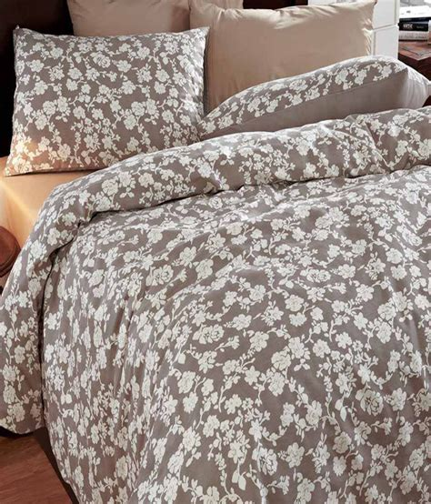 Brown Quilt Covers by Maspar Brown Floral Cotton Single Duvet Cover With 1