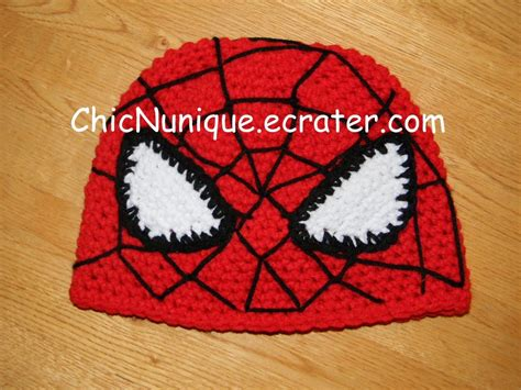 crochet pattern for spiderman eyes spiderman custom crochet hat any size available