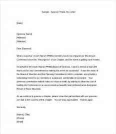 Thank You Letter Template To Sponsors Professional Thank You Letter 9 Free Documents In Word Pdf