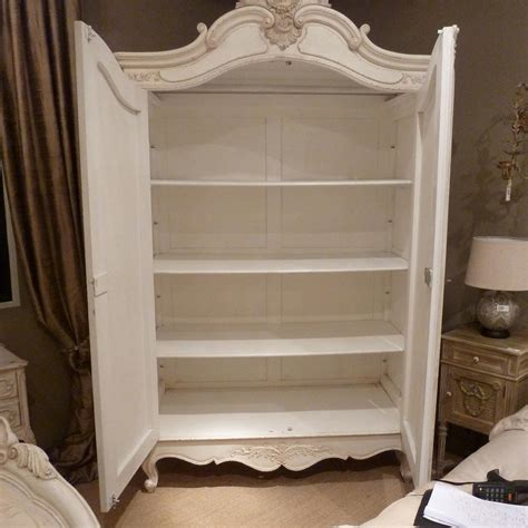 White Distressed Armoire Delphine Distressed White French Armoire French Bedroom