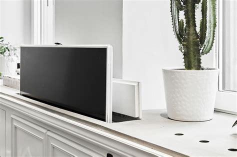 hidden flat screen tv cabinet hidden tvs flat screen on a pop up lift concealed in a