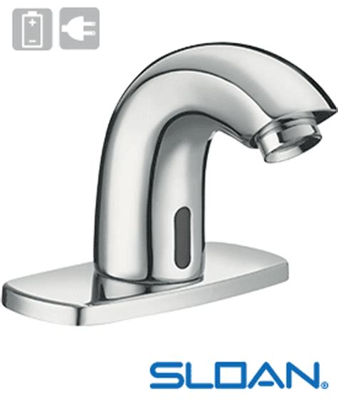 Sloan Automatic Faucets by Sf 2150 Sloan Sf 2150 Battery Powered Automatic Faucet