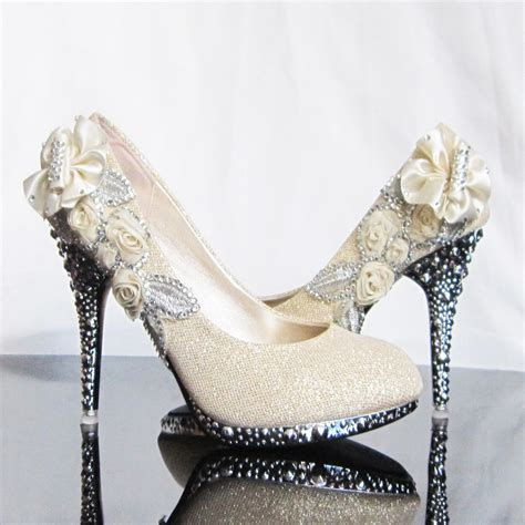 wedding flower shoes cool things on sale flower wedding shoes