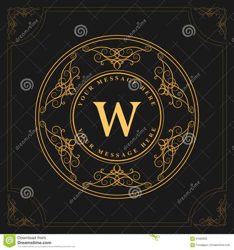 Monogram Design Elements, Graceful Template. Elegant Line ... W Hotel Logo Vector