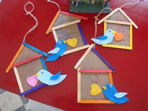 popsicle stick birdhouse   playful garden bird