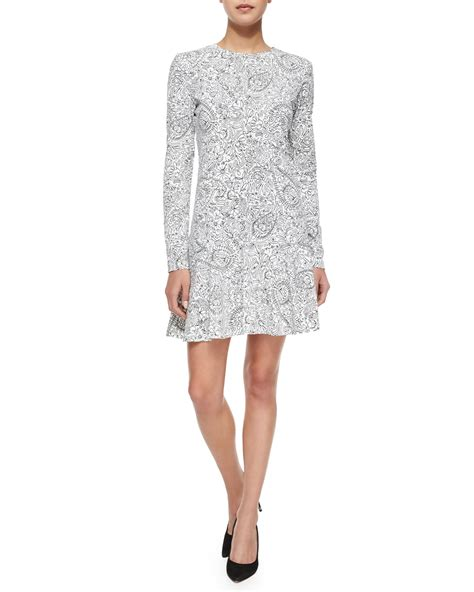doodle dresses burch sleeve doodle print dress in multicolor lyst