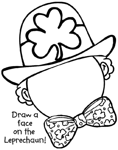 complete the leprechaun coloring page crayola com