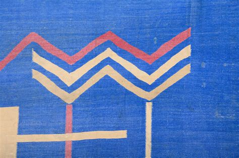 cotton dhurrie rugs sale deco cotton dhurrie for sale at 1stdibs