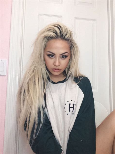 add darker roots to bleached hair i want my hair to be like this long and messy looking