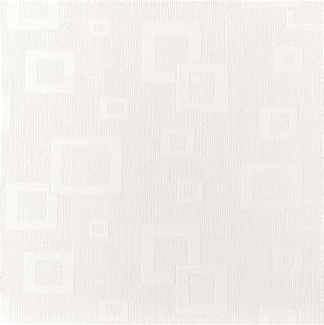 Graham & Brown Superfresco White Squares Paintable