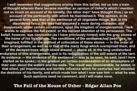 The Fall Of The House Of Usher Text by Edgar Allan Poe Story Structure And Narrative Technique Flynn Gray