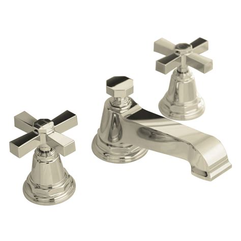 Polished Nickel Bathroom Faucets Shop Kohler Pinstripe Vibrant Polished Nickel 2 Handle Widespread Watersense Bathroom Faucet