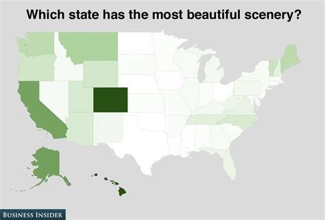 most beautiful states in the us poll how americans feel about the states business insider