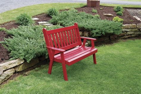 amish made pine wood traditional english garden bench