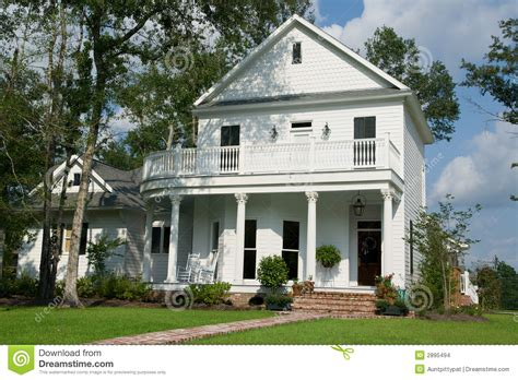 two story two story white house stock images image 2895494