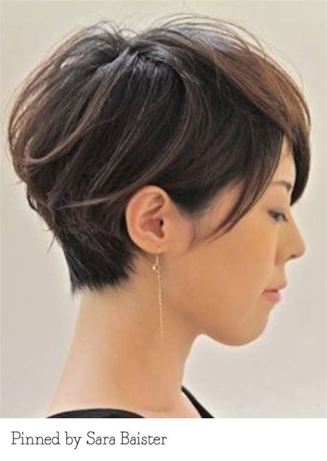 hair cut below the ear tucked behind ear hair pinterest bob hairstyle tucked