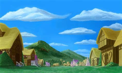 cartoon village wallpaper the small town of ponyville full hd wallpaper and