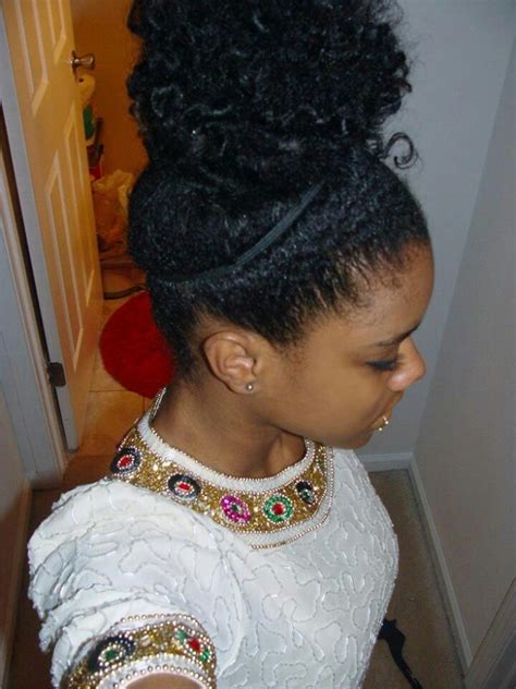 natural hairstyles with buns cute messy bun natural hairstyles pinterest