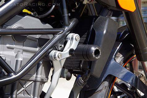 Frame Sliders Axle Sliders Ktm Duke 200 250 390 sato racing frame sliders ktm 125 200 duke 11 12