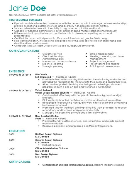 Professional Life Coach Templates To Showcase Your Talent Myperfectresume Coaching Resume Template