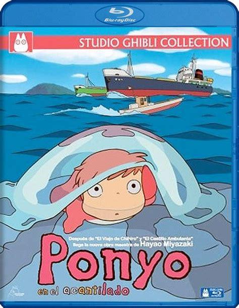 ponyo blu ray slipcover ponyo en el acantilado a flote
