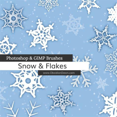snow pattern brush snow snowflakes photoshop gimp brushes obsidian dawn