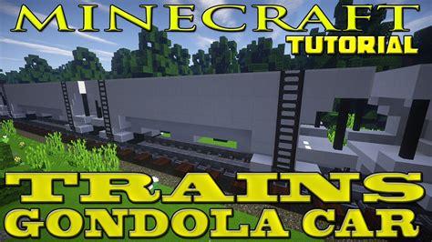 minecraft boat train minecraft freight train car tutorial gondola car