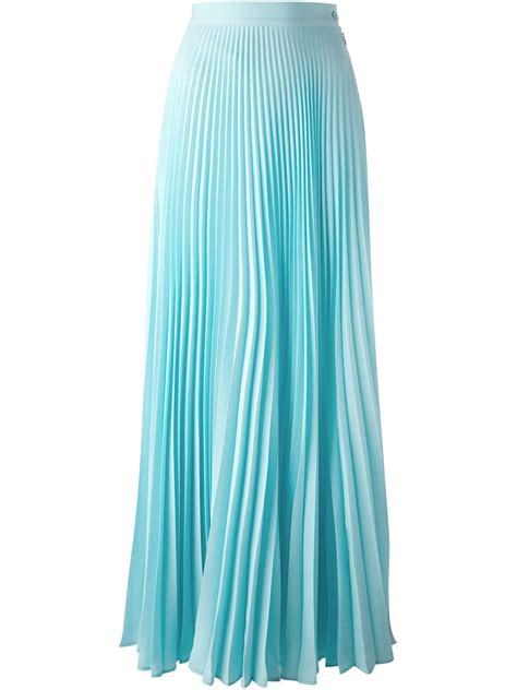 light blue pleated skirt fendi long pleated skirt in blue lyst